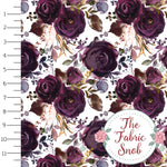 Butterum Floral  - September 2018 - Cotton/Spandex Jersey Knit - 1/2 Metre **PRE-ORDER**