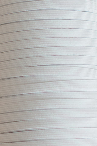 "1/4"" White Braided Elastic - By The Metre"
