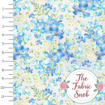 Soft Blue Floral - Snob MyPrint with Floral Faves - French Terry Knit