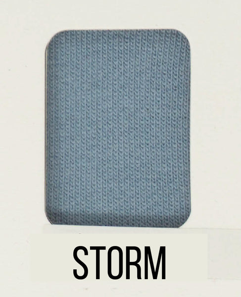 Storm - LUXE Solids FRENCH TERRY - 1/2 Metre
