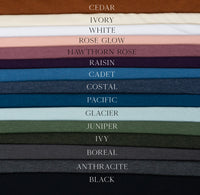 Cadet- Tencel Organic Cotton Spandex FRENCH TERRY - 1/2 metre