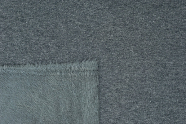 Charcoal Heather - FLUFF Sweater Fleece - 1/2 Metre