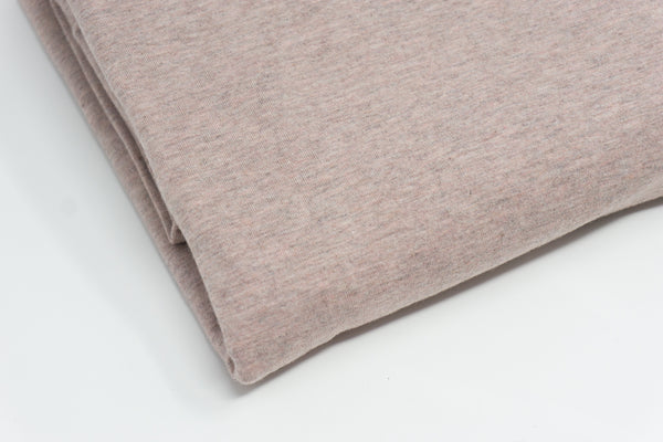 Rose Mist Heathered Solid JERSEY - Winter 2020 Heathereds - 1/2 Metre
