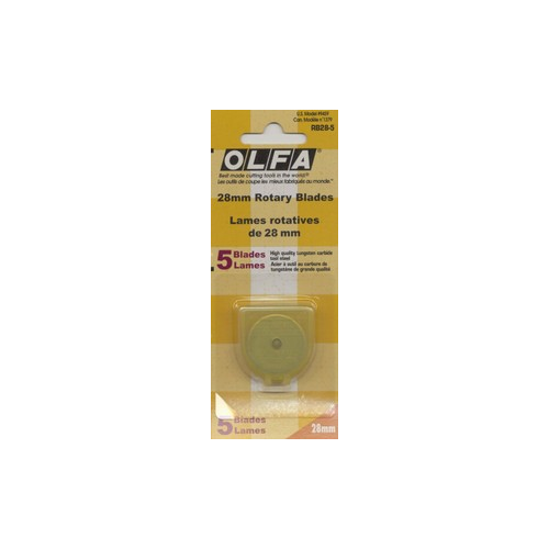 28mm Rotary Cutter Blades - 5-pack - Olfa