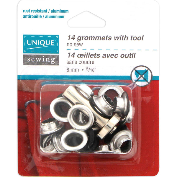 Grommets Matte Black with Tool - 8mm (5⁄16″) - 14 pcs