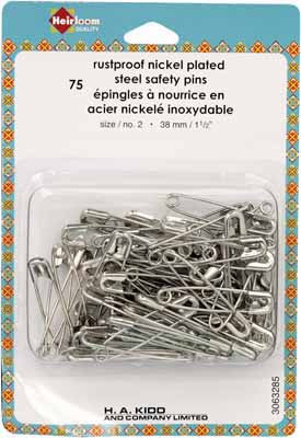 Safety Pins - 38mm (11⁄2″) - 75pcs