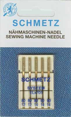 SCHMETZ Serger Needles Elx705- Assorted Sizes - 5 Pieces