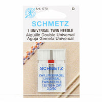 SCHMETZ Twin Needle Carded - 90 - 3.0mm - 1 Piece