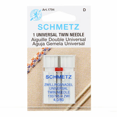 Schmetz Twin Machine Needle Size 4.0mm - 80  - 1 Piece