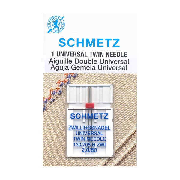 SCHMETZ Twin Needle Carded - 80/12 - 2.0mm - 1 Piece