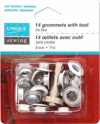 Grommets with Tool White - 8mm (5⁄16″) - 14 pcs