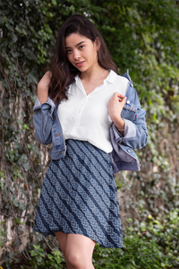 The Darlene Flare Skirt  in Navy