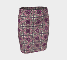 Load image into Gallery viewer, The Adriana Fitted Skirt in Pink-Clash Patterns