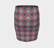 Load image into Gallery viewer, The Adriana Fitted Skirt in Tricolour-Clash Patterns