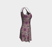 Load image into Gallery viewer, The Adriana Flare Dress in Pink-Clash Patterns