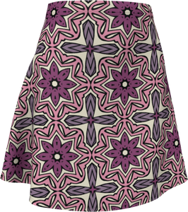 The Adriana Flare Skirt in Pink