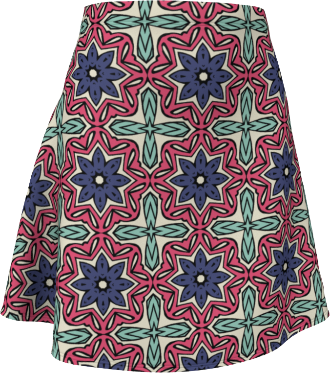 The Adriana Flare Skirt in Tricolour