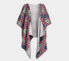 Load image into Gallery viewer, The Adriana Kimono in Tricolour-Clash Patterns