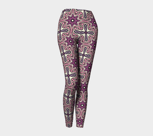 The Adriana Leggings in Pink-Clash Patterns