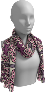 The Adriana Long Scarf in Pink
