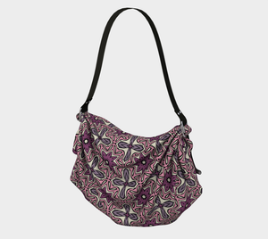 The Adriana Origami Bag in Pink-Clash Patterns