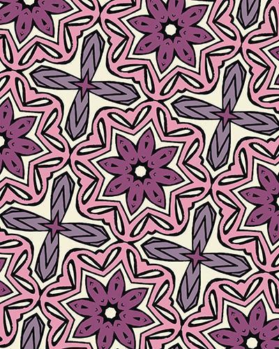 The Adriana Print-at-Home Art Print in Pink - Digital Download-Clash Patterns
