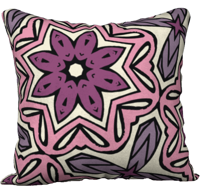 The Adriana Reversible Pillow in Pink