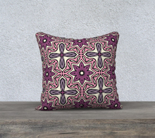 Load image into Gallery viewer, The Adriana Reversible Pillow in Pink-Clash Patterns