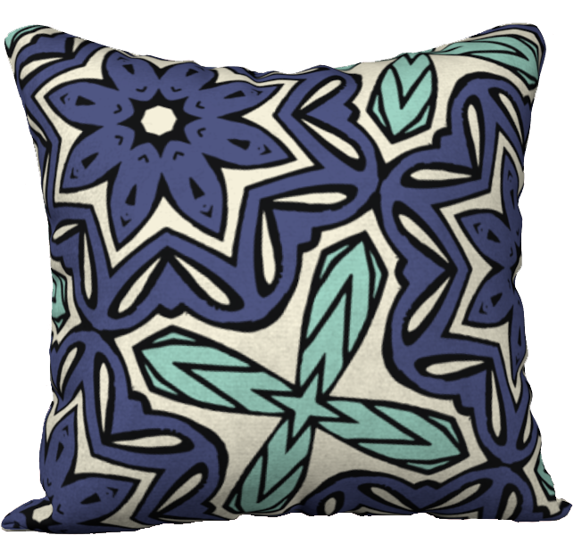 The Adriana Reversible Pillow in Purple and Green