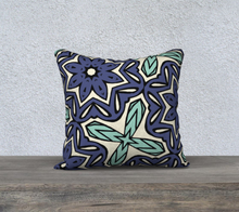 Load image into Gallery viewer, The Adriana Reversible Pillow in Purple and Green-Clash Patterns