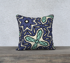 The Adriana Reversible Pillow in Purple and Green-Clash Patterns
