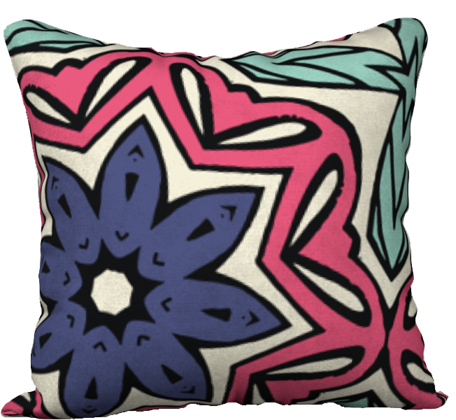 The Adriana Reversible Pillow in Tricolour