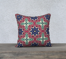 Load image into Gallery viewer, The Adriana Reversible Pillow in Tricolour-Clash Patterns
