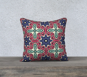 The Adriana Reversible Pillow in Tricolour-Clash Patterns
