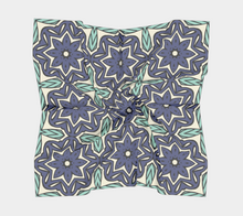Load image into Gallery viewer, The Adriana Square Scarf in Purple and Green-Clash Patterns