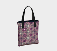 Load image into Gallery viewer, The Adriana Tote Bag in Pink-Clash Patterns