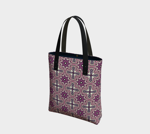 The Adriana Tote Bag in Pink-Clash Patterns