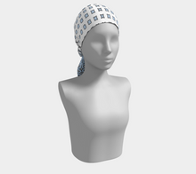 Load image into Gallery viewer, The Amanda Long Scarf in Blue and White