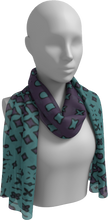 Load image into Gallery viewer, The Amanda Long Scarf in Purple and Green