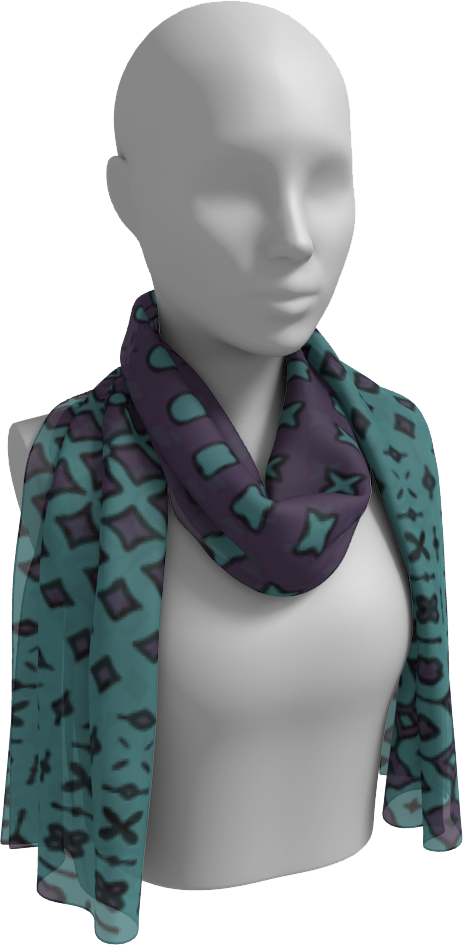 The Amanda Long Scarf in Purple and Green