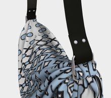 Load image into Gallery viewer, The Amanda Origami Bag in Blue and White-Clash Patterns
