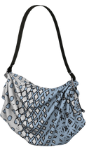 Load image into Gallery viewer, The Amanda Origami Bag in Blue and White