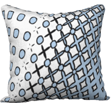 Load image into Gallery viewer, The Amanda Reversible Pillow in Blue and White
