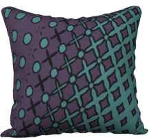 Load image into Gallery viewer, The Amanda Reversible Pillow in Purple and Green