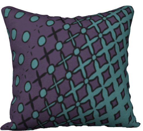 The Amanda Reversible Pillow in Purple and Green-18