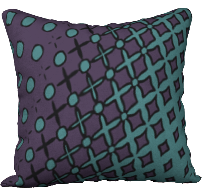 The Amanda Reversible Pillow in Purple and Green