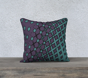The Amanda Reversible Pillow in Purple and Green-Clash Patterns