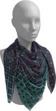 Load image into Gallery viewer, The Amanda Square Scarf in Purple and Green