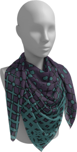 The Amanda Square Scarf in Purple and Green