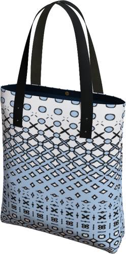 The Amanda Tote Bag in Blue and White-Tote Bag-Clash Patterns by Jennifer Akkermans